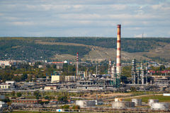 Rafinerii ropy naftowej fabryka Obraz Royalty Free