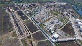 Rafinerii ropy naftowej roślina dla prasmoły i głębokiego przerobu ropy naftowej Wyposażenie i zbiorniki w rafinerii ropy naftowe Fotografia Royalty Free