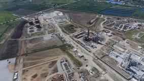 Rafinerii ropy naftowej roślina dla prasmoły i głębokiego przerobu ropy naftowej Wyposażenie i zbiorniki w rafinerii ropy naftowe Zdjęcia Royalty Free
