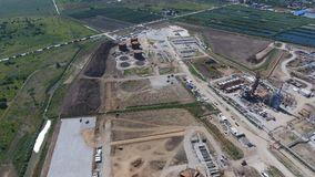 Rafinerii ropy naftowej roślina dla prasmoły i głębokiego przerobu ropy naftowej Wyposażenie i zbiorniki w rafinerii ropy naftowe Obraz Stock