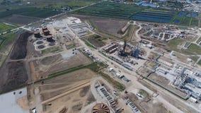 Rafinerii ropy naftowej roślina dla prasmoły i głębokiego przerobu ropy naftowej Wyposażenie i zbiorniki w rafinerii ropy naftowe Obrazy Royalty Free