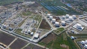 Rafinerii ropy naftowej roślina dla prasmoły i głębokiego przerobu ropy naftowej Wyposażenie i zbiorniki w rafinerii ropy naftowe Zdjęcie Royalty Free
