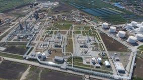 Rafinerii ropy naftowej roślina dla prasmoły i głębokiego przerobu ropy naftowej Wyposażenie i zbiorniki w rafinerii ropy naftowe Obraz Royalty Free
