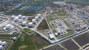 Rafinerii ropy naftowej roślina dla prasmoły i głębokiego przerobu ropy naftowej wyposażenie Zdjęcia Royalty Free