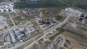 Rafinerii ropy naftowej roślina dla prasmoły i głębokiego przerobu ropy naftowej wyposażenie Obraz Stock