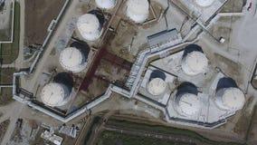 Rafinerii ropy naftowej roślina dla prasmoły i głębokiego przerobu ropy naftowej wyposażenie Obrazy Royalty Free