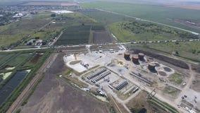 Rafinerii ropy naftowej roślina dla prasmoły i głębokiego przerobu ropy naftowej wyposażenie Fotografia Stock