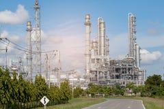 Rafinerii wierza w rafinerii Obrazy Royalty Free
