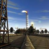Rafinery dell'olio Immagini Stock