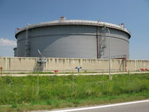 Rafinery van de olie Stock Fotografie