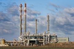 Rafinery van de olie Royalty-vrije Stock Afbeeldingen