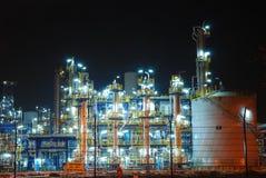 rafineryjny noc Zdjęcia Royalty Free