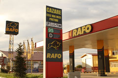 Rafo gas station. A Rafo gas station is seen in Buzau city, Romania royalty free stock photo