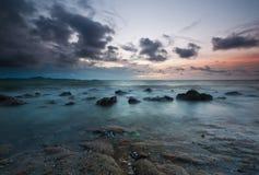 Rafowa plaża Fotografia Stock