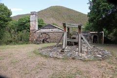 Rafowy Podpalany Cukrowy młyn - St John, USVI zdjęcie stock