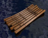Raft. 3d render of water raft Stock Photos
