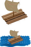 Raft. Color illustration of a raft, vector Stock Image