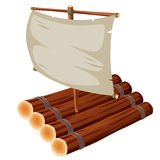 Raft. Illustration of Raft onl white Stock Photography