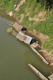 Raft Bamboo River Hut Stock Photo
