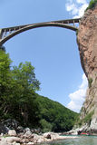 Raft and bridge Stock Images