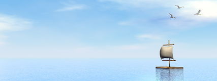 Raft - 3D render Stock Photography