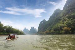 raft för berg för bambukarstliggande fotografering för bildbyråer