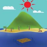 Raft stock illustration