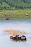 Raft house in Sangkhlaburi Royalty Free Stock Image