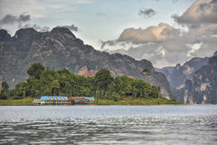 Raft houses at Khao Sok National Park, Thailand Stock Photo