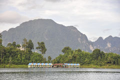 Raft houses at Khao Sok National Park, Thailand Royalty Free Stock Photo