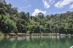Raft houses at Khao Sok National Park, Thailand Stock Photography