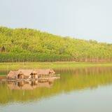 Raft houses on the lake Stock Photos