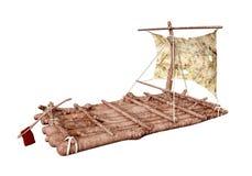 Raft isolated on white background Stock Photography