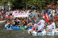 Raft races on the river Royalty Free Stock Photos