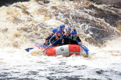 Raft the rapids Royalty Free Stock Image