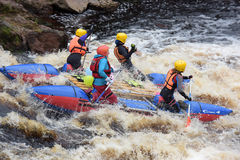 Raft the rapids Royalty Free Stock Photo