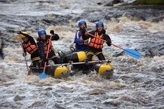 Raft the rapids Stock Photography