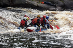 Raft the rapids Stock Images