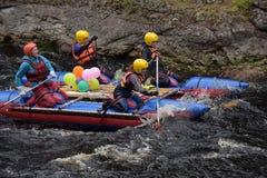 Raft the rapids Royalty Free Stock Photos
