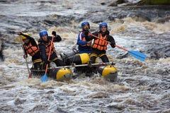 Raft the rapids Stock Photography
