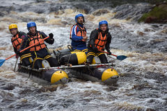 Raft the rapids Stock Image