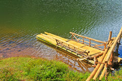 Raft in the reservoir Royalty Free Stock Photo