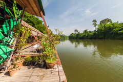 Raft resort at Kwai noi river,Kanchanaburi Thailand Stock Photography