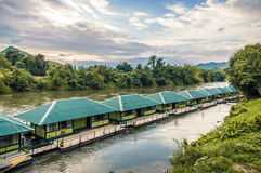Raft in the river Kwai Royalty Free Stock Photo