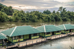 Raft in the river Kwai Stock Images