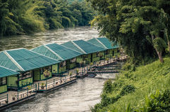 Raft in the river Kwai Stock Photo