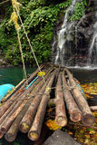 Raft in tropical jungle Royalty Free Stock Images