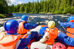 Whitewater rafting Stock Photo
