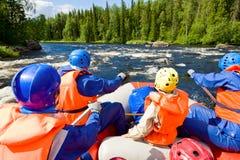 Whitewater rafting Stock Photo