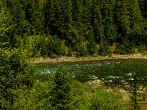 Raftin река стоковая фотография rf